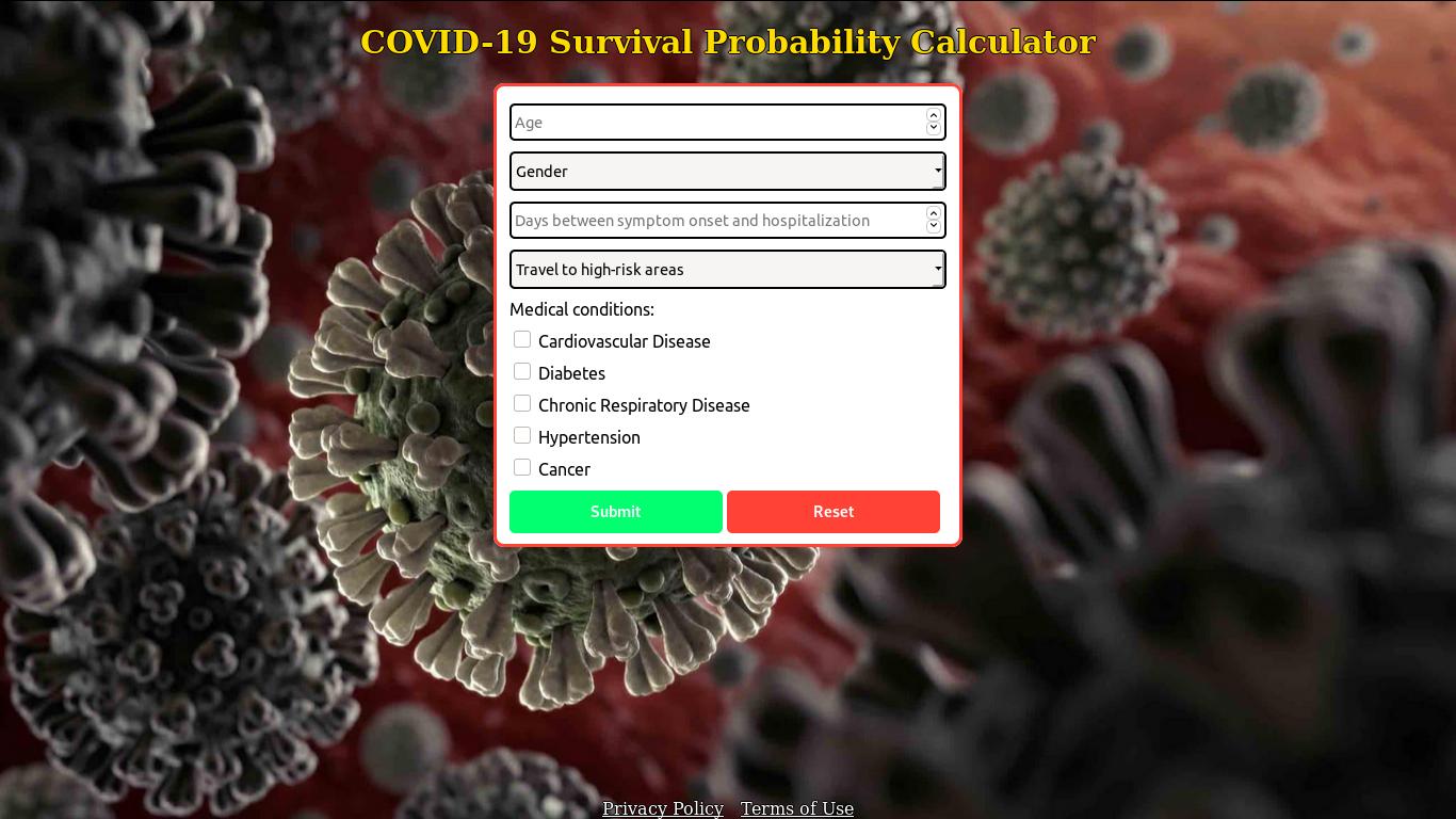 COVID-19 Survival Calculator