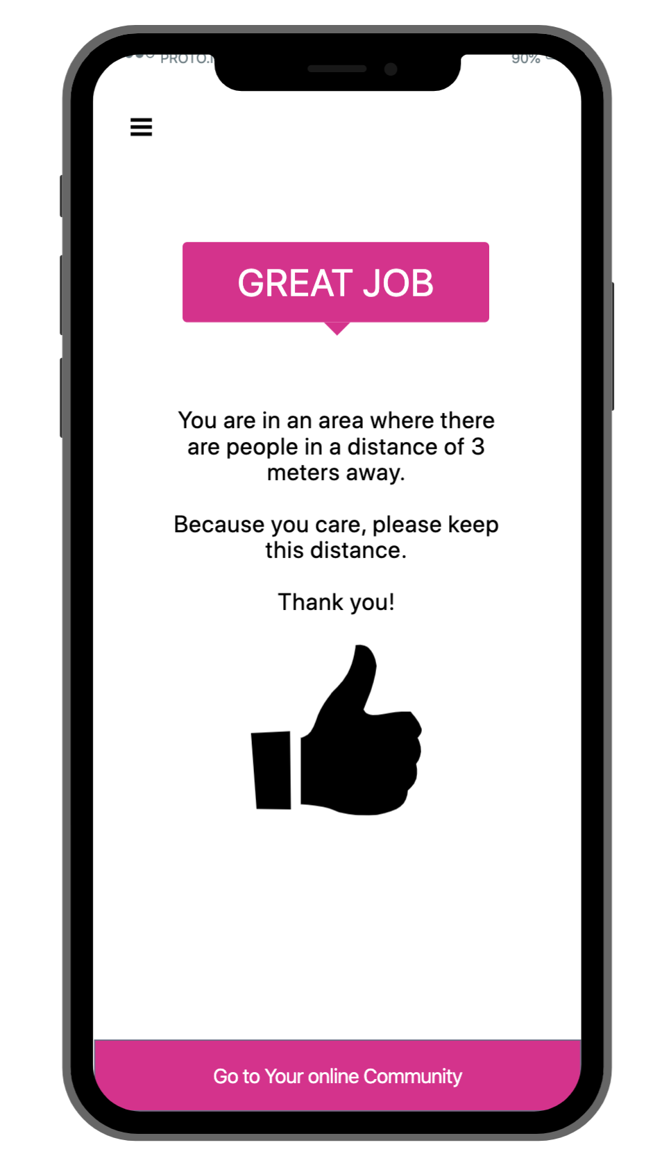 Social Distance App