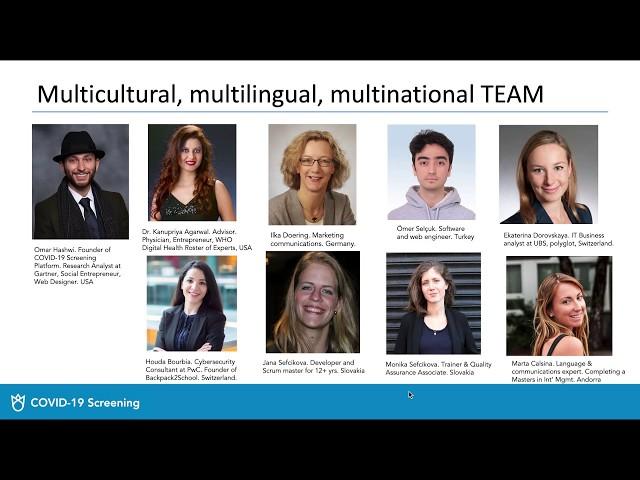 Multilingual COVID-19 Screening Platform