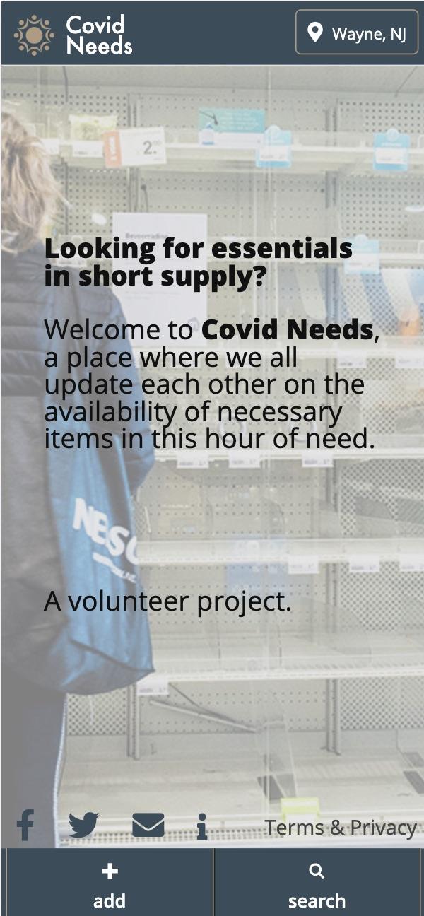 COVID NEEDS