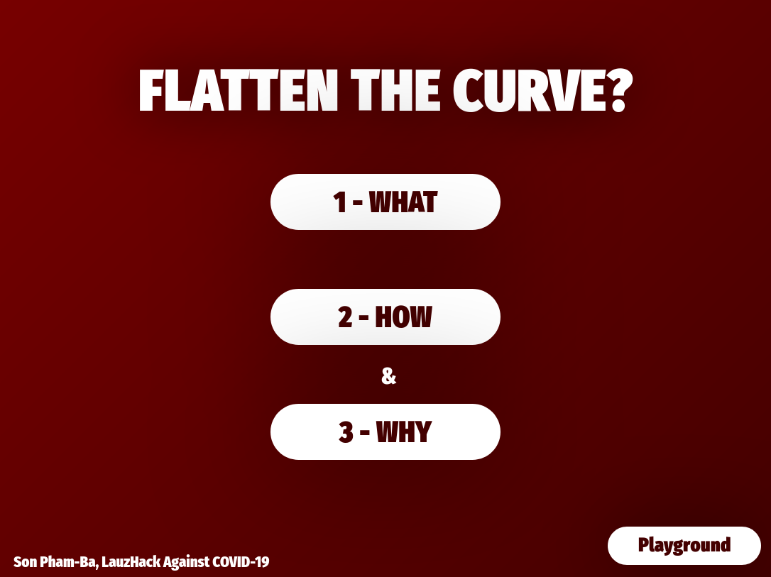 Flatten the Curve? What, How and Why