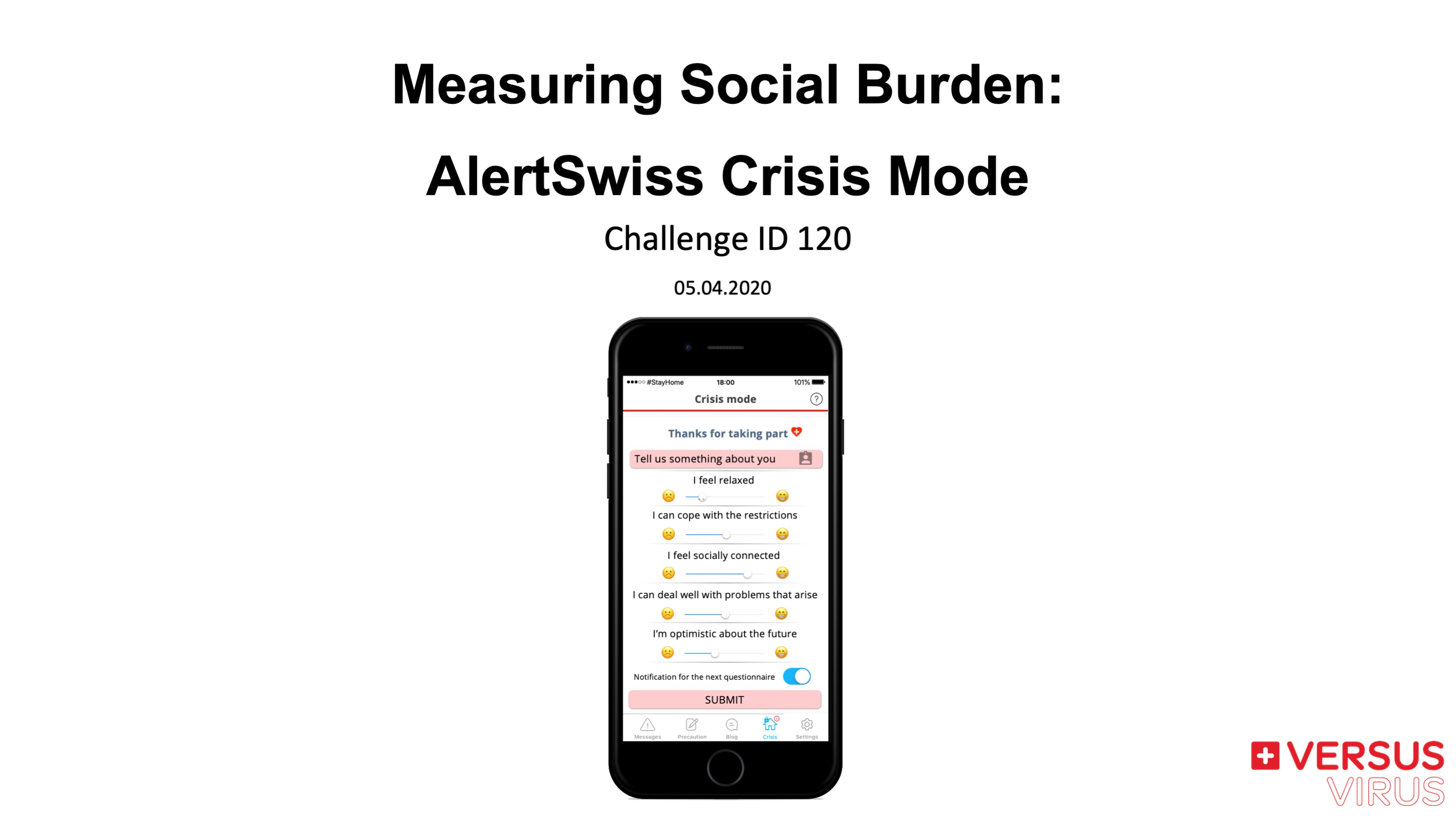 Measuring Social Burden: AlertSwiss Crisis Mode
