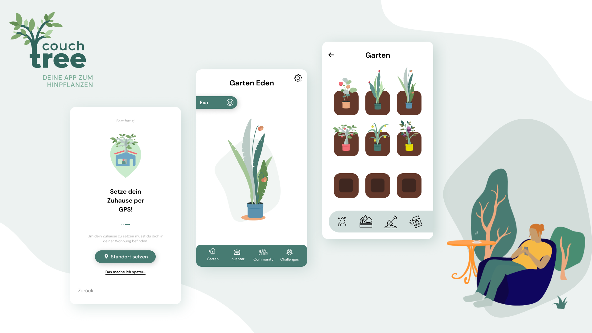 CouchTree, your app to plant at home