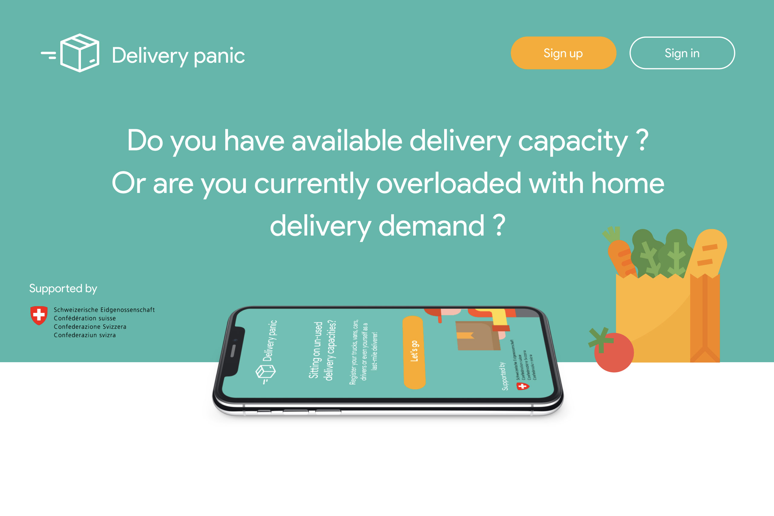 Grocery home delivery panic!