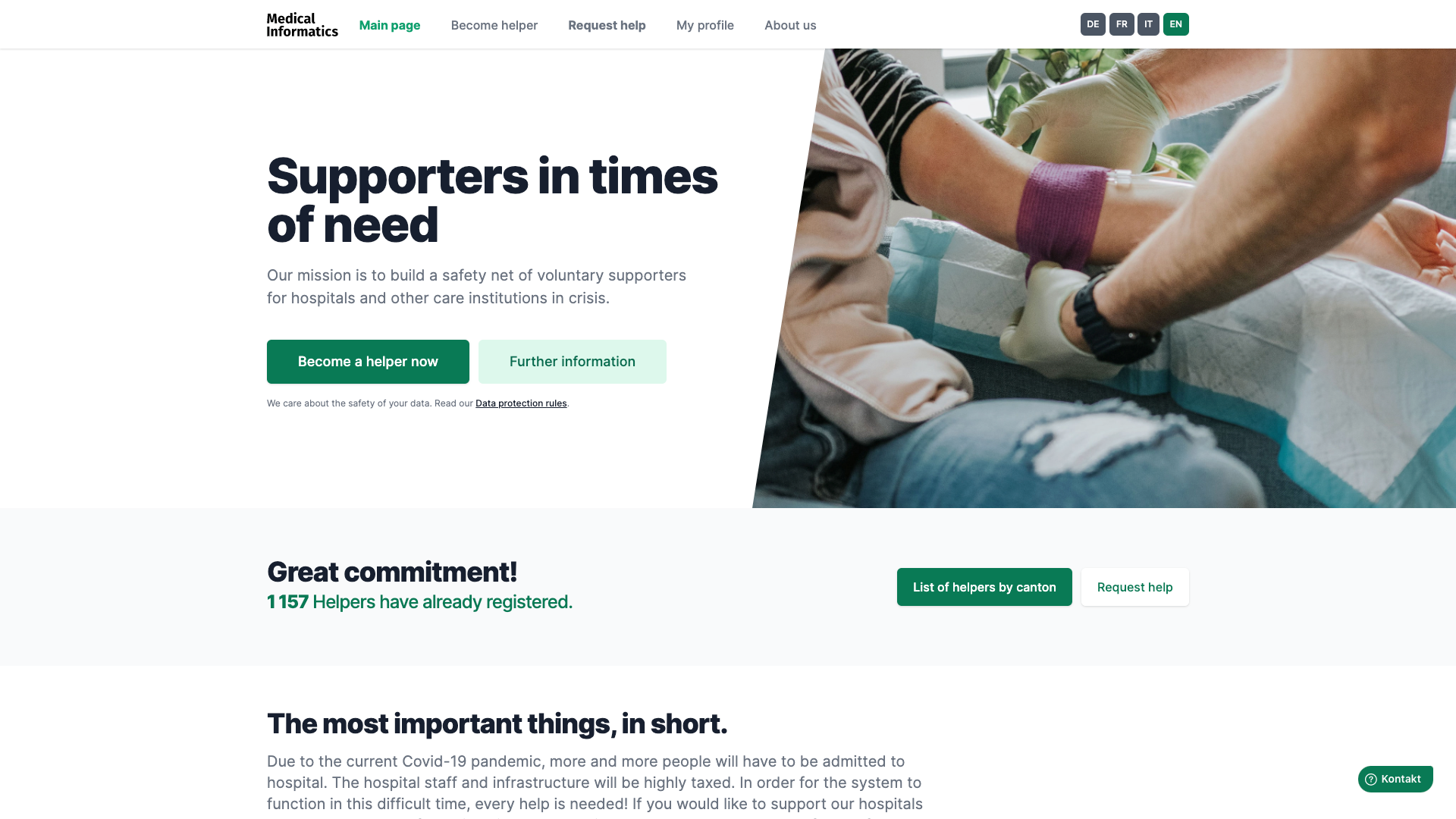 Supporters in times of need | Medical Informatics