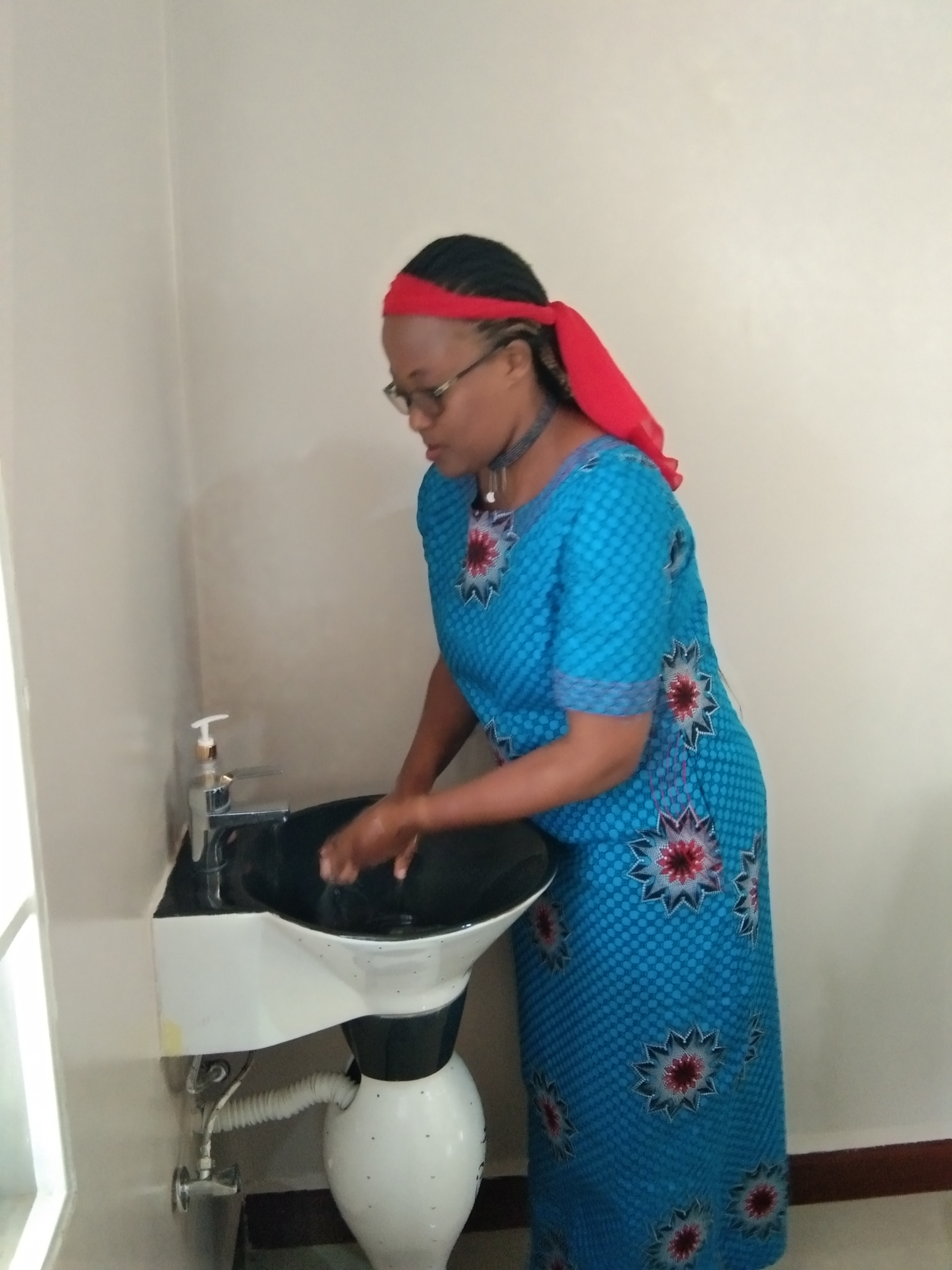 Proper hand washing with soap - training via video clips