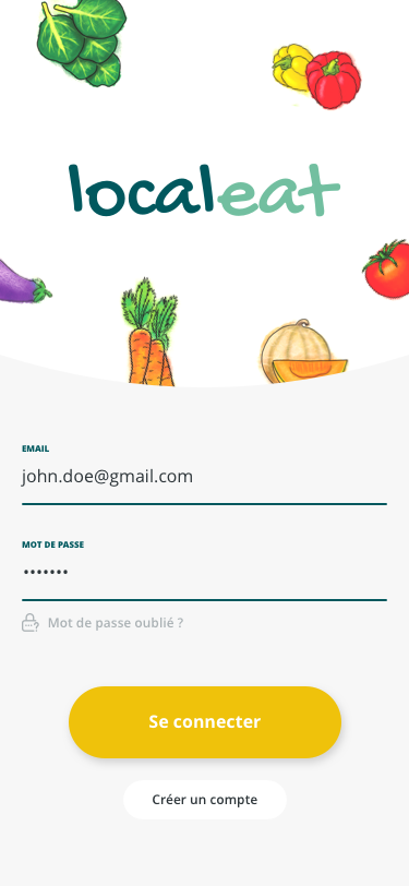 Local eat - Eat from your nearby producers