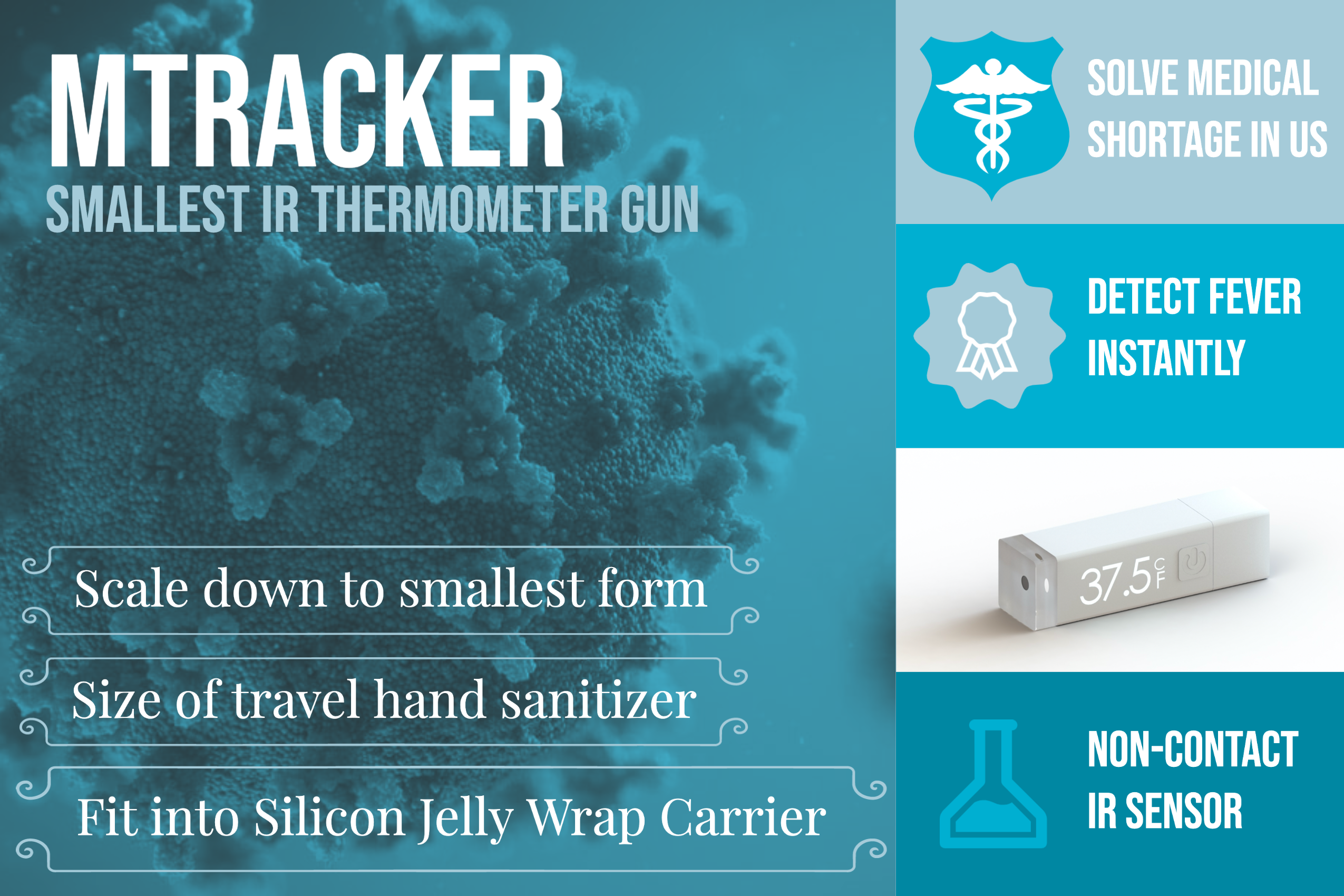 mTracker Smallest IR Thermometer For Fever Detection
