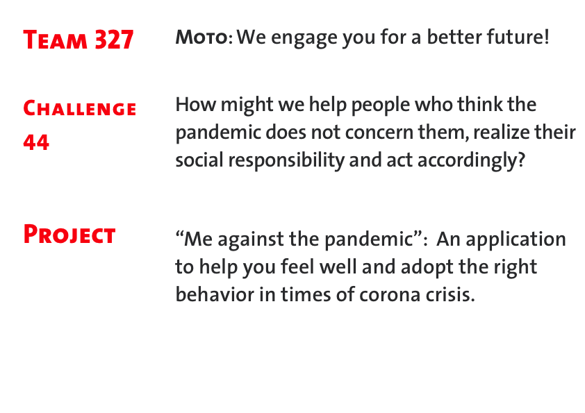 """Me against the pandemic"" #Project 327"