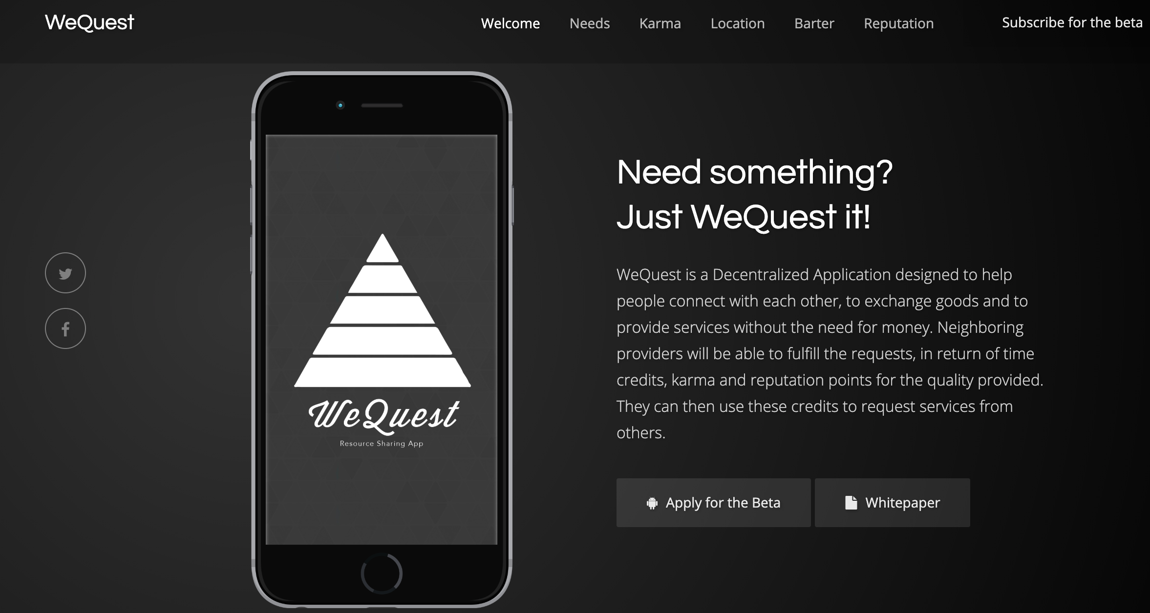 WeQuest - What do WE need today?
