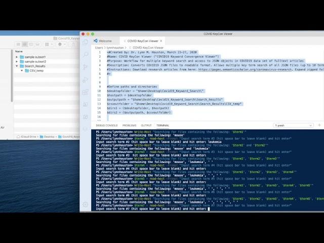 COVID-19 KeyCon Viewer (Keyword Convergence Viewer)