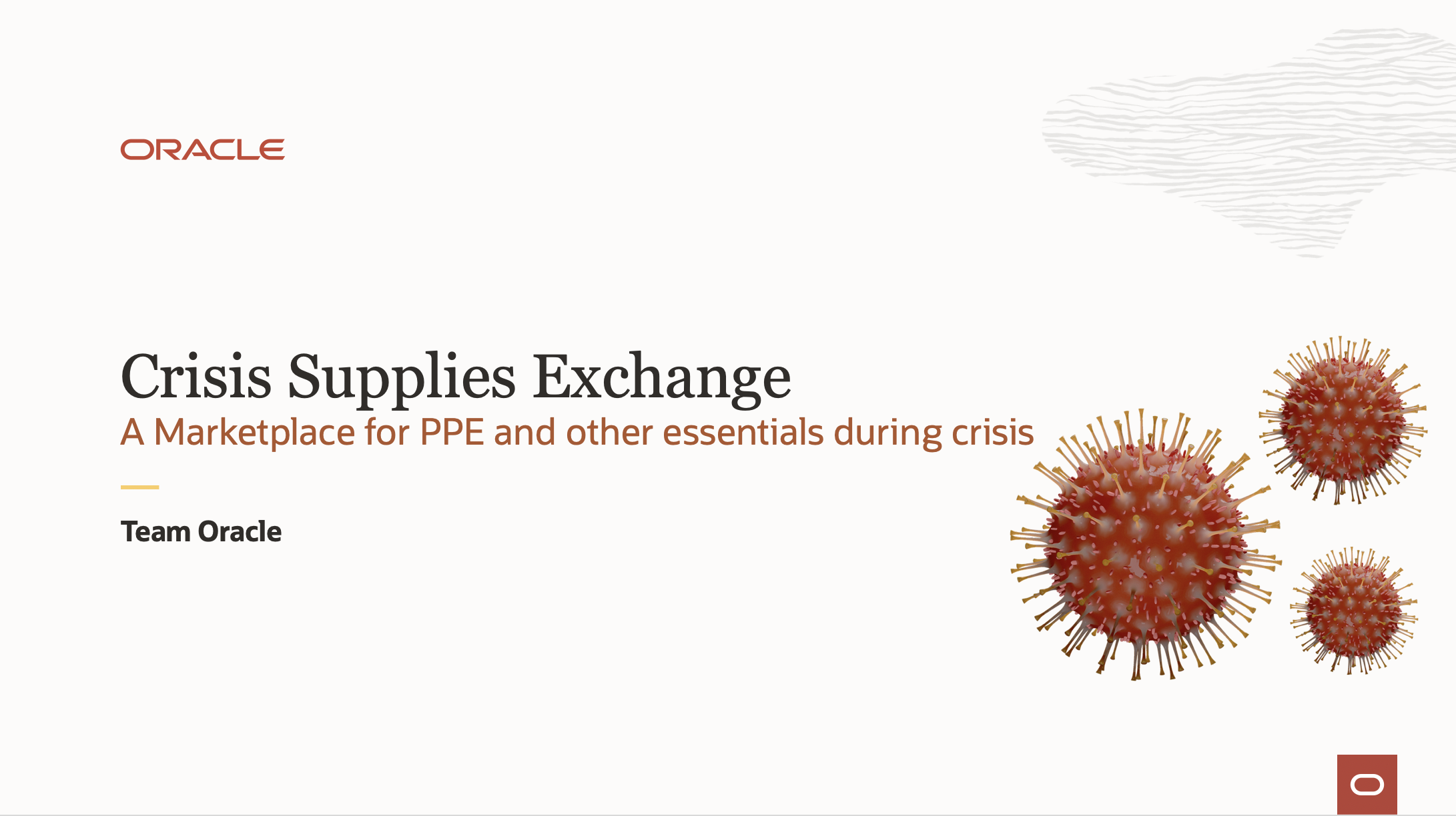 Oracle's Crisis Supplies Exchange