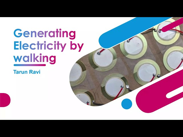 Generating Electricity By Walking