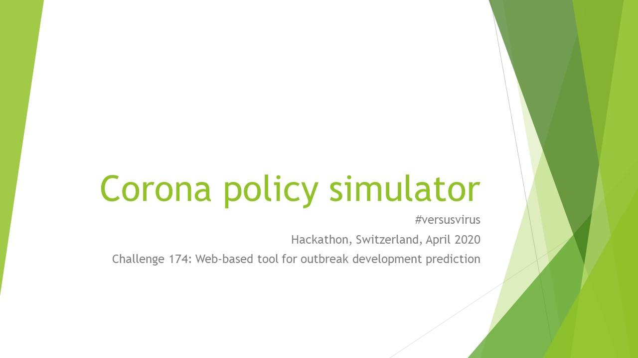 covid policy simulator