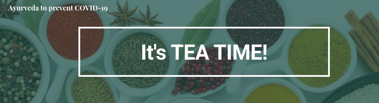 It's TEA time!