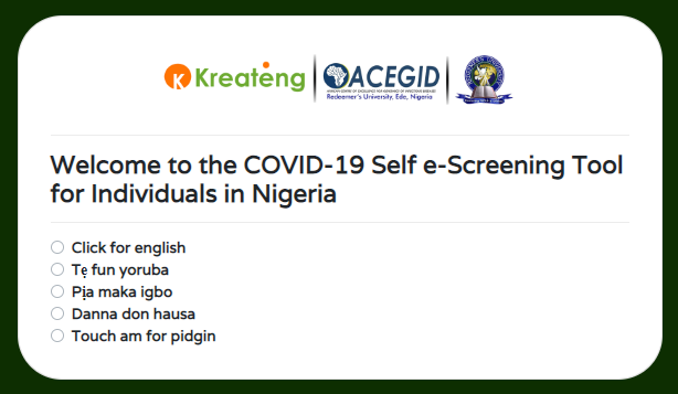 Covid-19 Self E-screening tool
