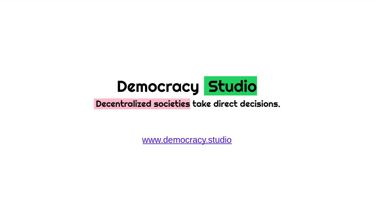 Democracy Studio