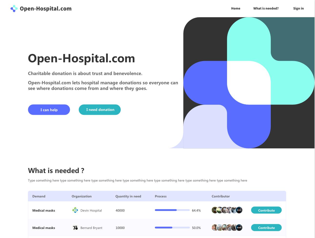 OpenHospital: Online hub for medical equipment fundraisers