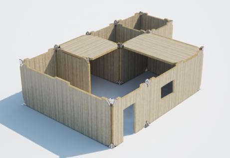 Design of a modular unit for building a temporary hospital