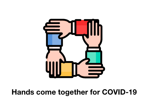 Hands come together for COVID-19