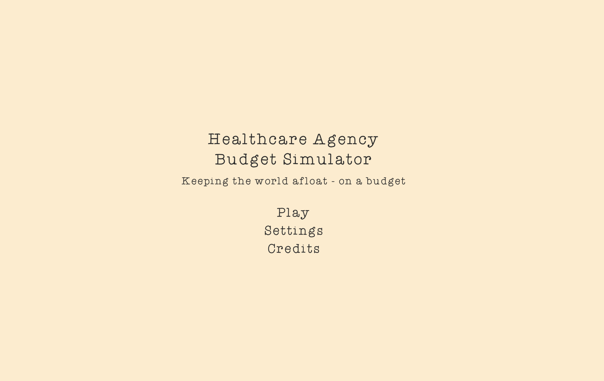Healthcare Agency Budgeting Simulator