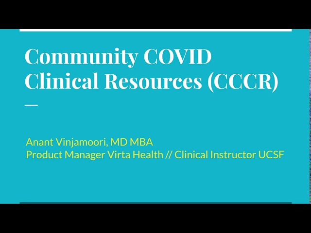 Community COVID Clinical Resources