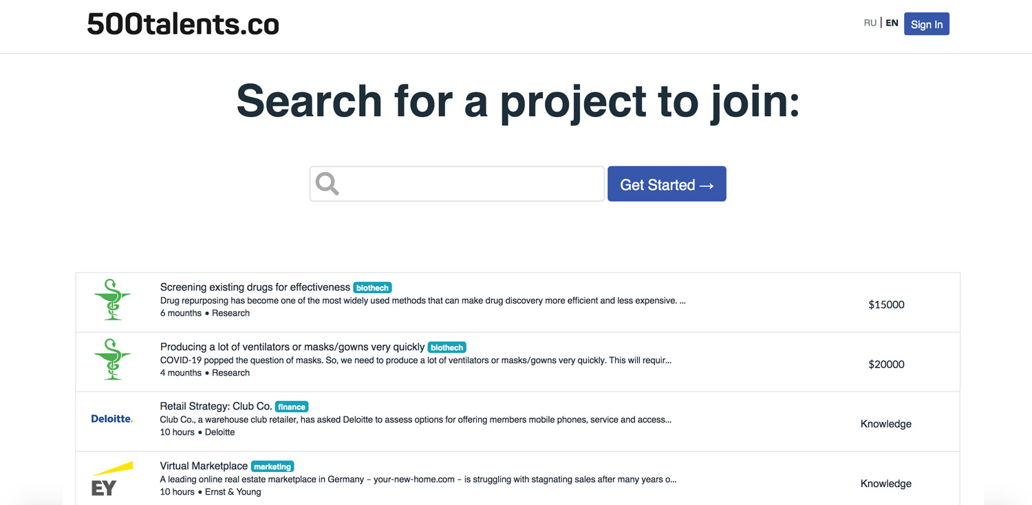 Communication platform for biotech research competitions
