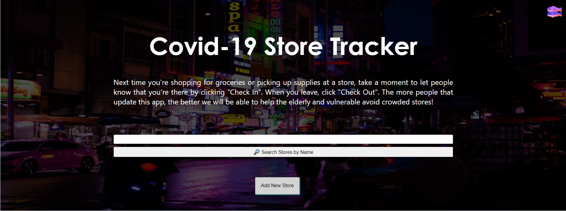 Covid-19 Store Tracker
