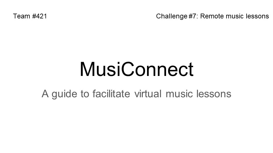 Challenge #7 - Remote Music Lessons